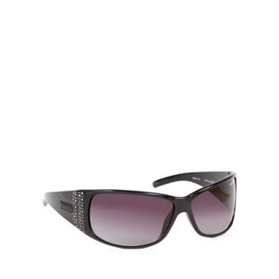 Bloc Black diamante detail wrap sunglasses - . -