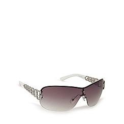 Guess - Silver metal shield sunglasses