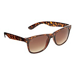 Lipsy - Light brown tortoiseshell plastic sunglasses