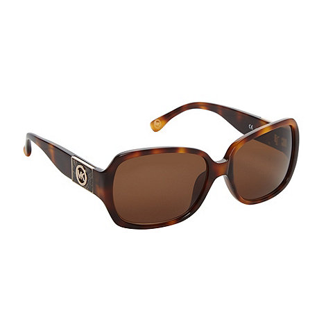 Michael Kors - Light brown oversized tortoiseshell sunglasses