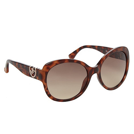 Michael Kors - Light brown oversized tortoiseshell cat eye sunglasses