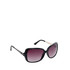 Beach Collection - Black oversize snake arm sunglasses