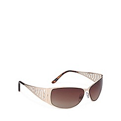 Beach Collection - Gold cutout diamante sunglasses