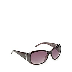 Beach Collection - Dark purple diamante temple sunglasses