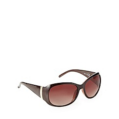 Beach Collection - Brown diamante temple sunglasses
