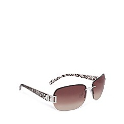 Beach Collection - Brown rimless square sunglasses