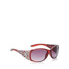 Beach Collection - Dark red tortoiseshell filagree sunglasses