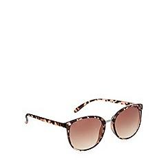 Red Herring - Brown metal bridge round tortoiseshell sunglasses
