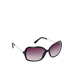 Red Herring - Black plastic square sunglasses