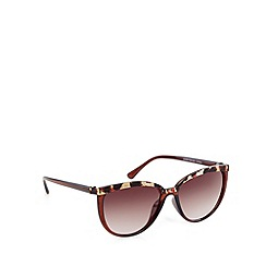 Red Herring - Brown animal plastic cat eye sunglasses