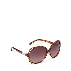 Red Herring - Brown oval oversized sunglasses