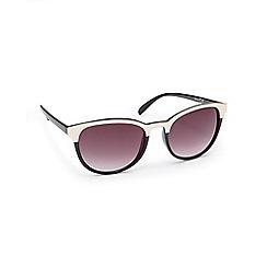 Red Herring - Black semi patent round sunglasses