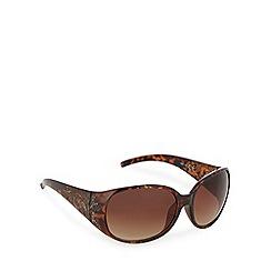Mantaray - Light brown tortoiseshell plastic round sunglasses