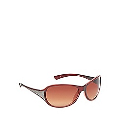Mantaray - Dark red plastic frame butterfly sunglasses