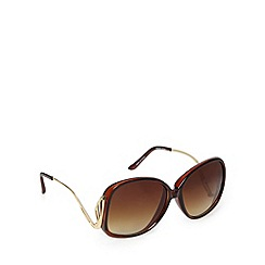 Jeepers Peepers - Light brown wing large round sunglasses