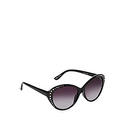 Jeepers Peepers - Black stud cat eye sunglasses
