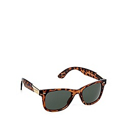 Jeepers Peepers - Brown tortoiseshell square sunglasses