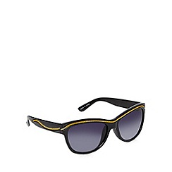 Jeepers Peepers - Black chain trim cat eye sunglasses