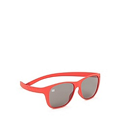 ICE - Red 'Pulse 107' silicone memory frame sunglasses