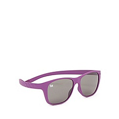 ICE - Purple 'Pulse 109' silicone memory frame sunglasses