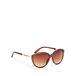 Principles by Ben de Lisi - Designer brown tinted plastic cat eye sunglasses
