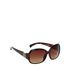 Principles by Ben de Lisi - Designer brown tortoiseshell square plastic sunglasses