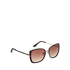 Principles by Ben de Lisi - Designer brown large plastic tortoiseshell frame sunglasses