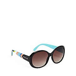 Principles by Ben de Lisi - Designer black chevron arm round plastic sunglasses