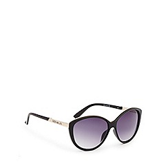Principles by Ben de Lisi - Designer black tinted plastic cat eye sunglasses