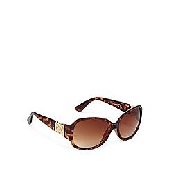 Principles by Ben de Lisi - Designer brown tortoiseshell round plastic sunglasses