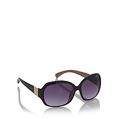 Lipsy - Black plastic diamante temple sunglasses