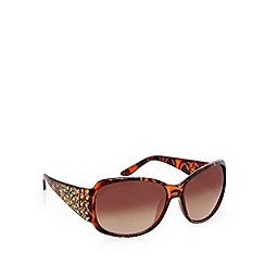 Lipsy - Brown studded tortoiseshell square sunglasses