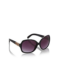 Lipsy - Black plastic diamante logo sunglasses