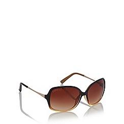 Lipsy - Black plastic ombre sunglasses
