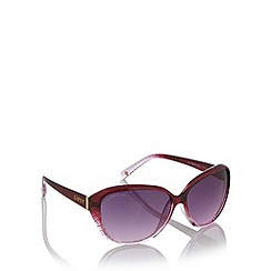 Lipsy - Dark red plastic quilted ombre sunglasses