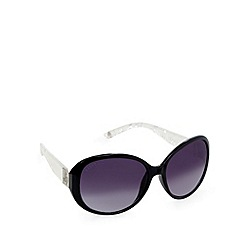 Lipsy - Black pearlescent large round sunglasses