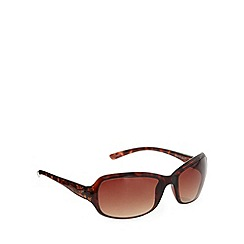 Mantaray - Brown plastic tortoiseshell frame floral arm sunglasses