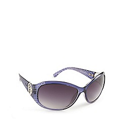Guess - Purple mock croc round sunglasses