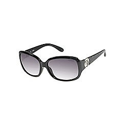 Guess - Black mock croc square sunglasses