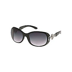 Guess - Black arm logo round sunglasses