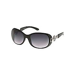 Guess - Black arm logo round sunglasses