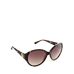 Guess - Light brown diamond round sunglasses