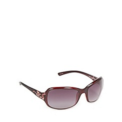 Mantaray - Dark red plastic frame floral arm sunglasses