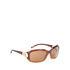 Ted Baker - Light brown plastic frame circle temple sunglasses