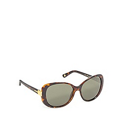 Ted Baker - Light brown plastic tortoiseshell frame round sunglasses