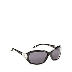 Ted Baker - Black plastic frame circle temple sunglasses