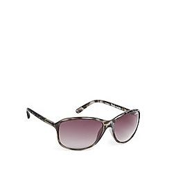 Bloc - Black plastic tortoiseshell frame butterfly sunglasses