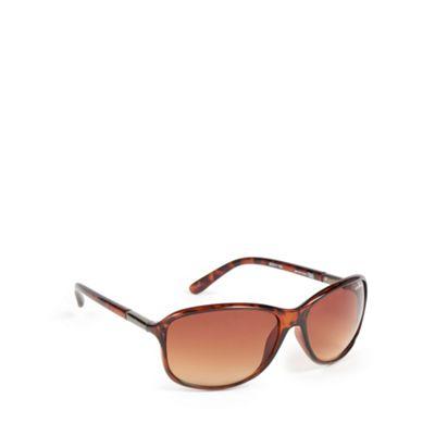 Bloc Brown plastic tortoiseshell frame butterfly sunglasses - . -