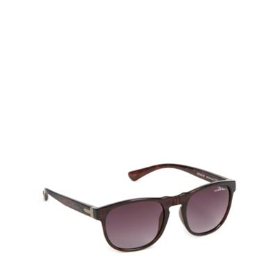 Bloc Black tortoiseshell frame oval sunglasses - . -