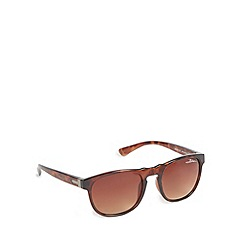 Bloc - Brown tortoiseshell frame oval sunglasses